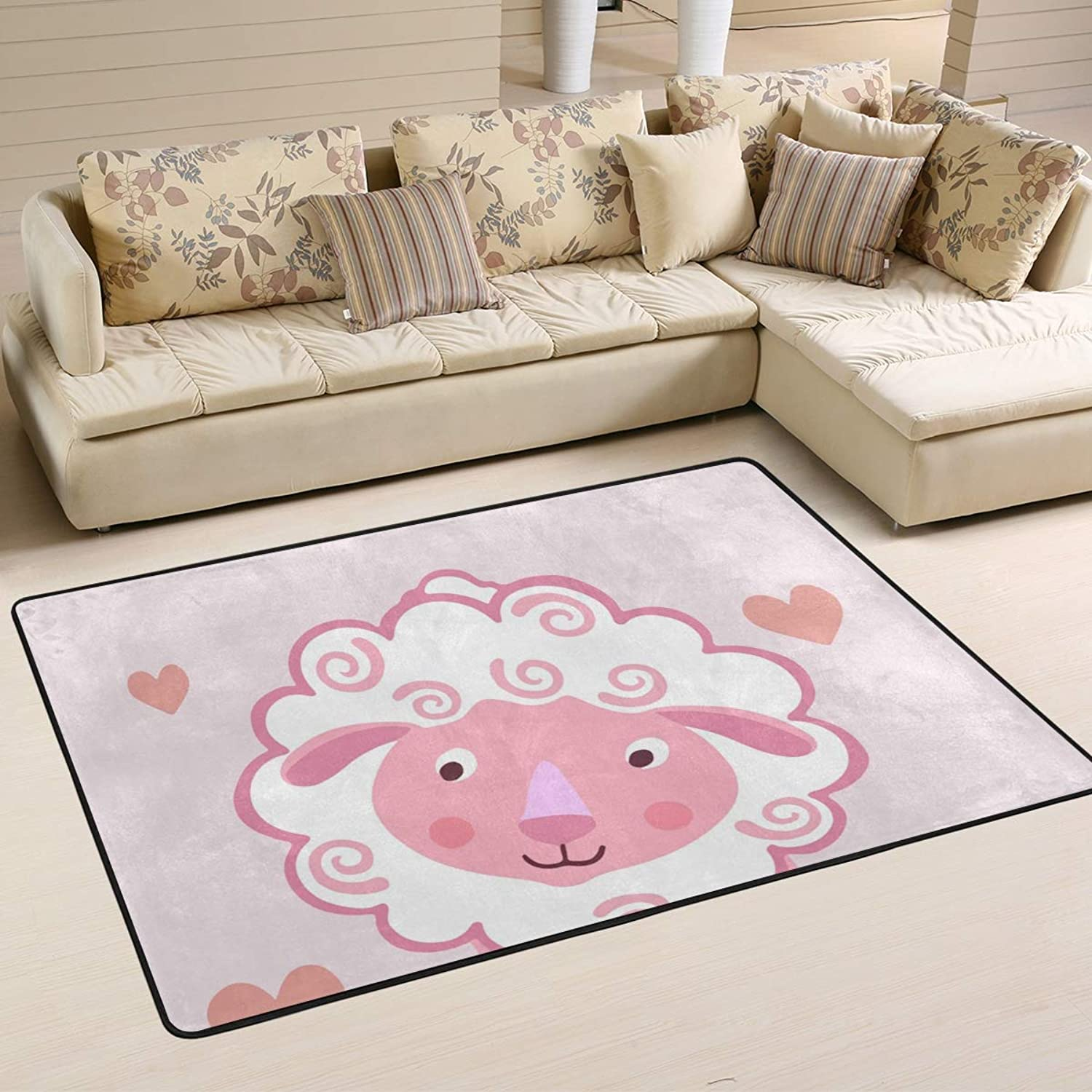 MALPLENA Baby Sheep Rugs for Living Room Doormat Carpet Floor Mats shoes Scraper for Living Room Dining Room Bedroom Kitchen Non Slip