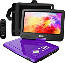 """SUNPIN Portable DVD Player 12.5"""" with HD Swivel Screen, Long Lasting Battery, Support USB/SD Card/Sync TV and Multiple Dis..."""