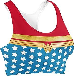 Rainbow Rules Wonder Woman Super Hero Inspired Sports Bra - XS
