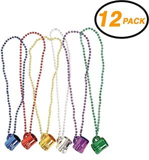 Set of 5 Coloured Shot Glasses Bead Necklace Party Fun Dare Game Hen Do Patricks
