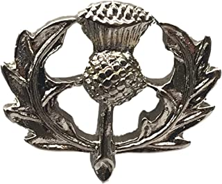 Outlander Broche Celtique Écosse Chardon nœud cristal bleu Badge Broches Pin