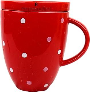 Laxmi Collection Perpetual Bliss Fruit Theme Ceramic Mug for Tea/Coffee/Milk/Juice/Birthday (Dimension)cm: 13x10x16