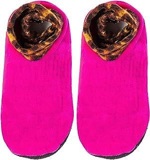 Kalaokei, Kalaokei Calcetines gruesos de felpa cálidos para el hogar de los niños calcetines de los niños super suaves cálido cama antideslizante casa interior grueso zapatillas de piso calcetines rosa rojo M