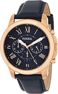 Fossil Mens Quartz Watch, Analog Display and Leather Strap FS4835