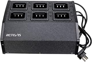 Retevis RTC29 Six Way Multi Unit Charger Two Way Radio Charger Station for Retevis RT29 Ailunce HD1 Walkie Talkies (1 Pack)