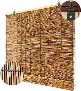 HANGMEN Cortinas Enrollables de Bambú Natural,Protector Solar Persianas de Caña,Estores de Paja,Natural y Hermosa,a Prueba de Polvo,Aislamiento Térmico,Personalizables(50x80cm/20x32in)