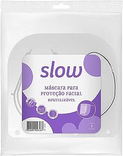 Máscara Para Proteção Facial Reutilizável de Acetato, Linha Slow. Embalagem com 1 Unidade., Slow, Transparente