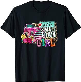 Just a Small Town Girl Shirt Women Vintage Truck T-Shirt