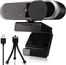 Webcam with Microphone for Desktop, 2K 1440P USB Web Camera with Privacy Cover and Tripod, Streaming Computer Web Camera f...