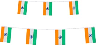 India Flag,TSMD 100 Feet Indian Flag National Country World Pannant Flags Banner String,International Party Decorations For Olympics,Grand Opening,Bar,School Sports Events,Festival Celebration Events