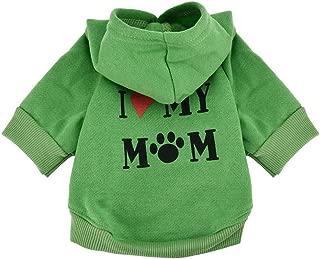 Pet Clothes, Puppy Hoodie Sweater Dog Coat Warm Sweatshirt Love My Mom Printed Shirt