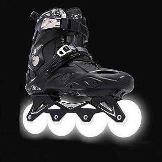 調整可能なインラインスケートスケートアダルトインラインユニセックスと女性のローラーシューズクラブフラットシューズアダルトプロフェッショナルファンシーローラースケートフラッシュプロフェッショナル、サイズ:44 EU / 11 US / 10 UK...