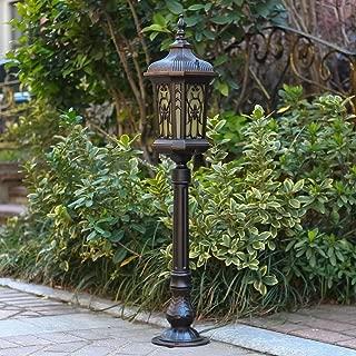 FCBUI 0.9M Classical IP55 Waterproof Outdoor Post Lantern Garden Path Lighting Bollard Pillar Light External Villa Landscape Pathwary Street Lamp Decor Glass Column Lamp E27