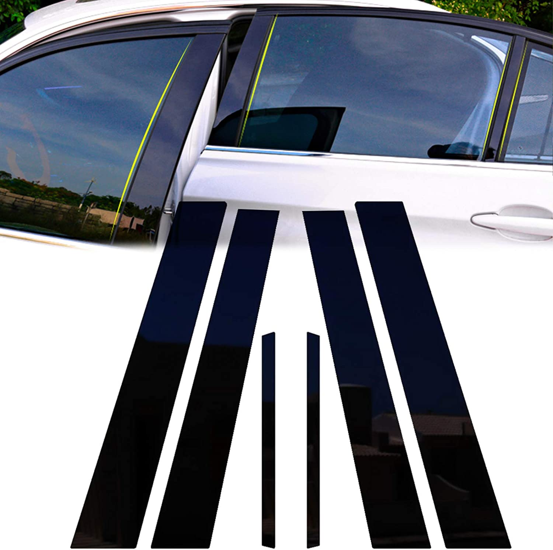 Translated Xotic Tech Max 71% OFF Black Pre-Cut Window Cover Molding Pillar Trims Posts