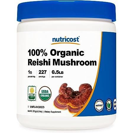 Nutricost Organic Reishi Mushroom 0.5LB (8oz) Powder - USDA Certified 100% Organic, Vegetarian, Non-GMO, Gluten Free