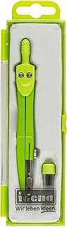 Idena 22072 Compas scolaire avec mines de rechange Vert