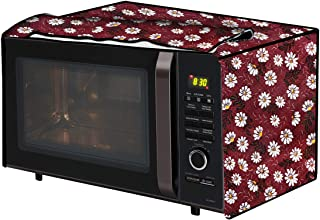 The Furnishing Tree Microwave Oven Cover for IFB 25 L Convection 25BC4 Floral Pattern Red