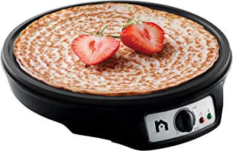 New House Kitchen Electric Precise Temperature Control Pancake Maker Griddle & Crepe Non-Stick Grill Pan with Batter Spreader and Spatula - 12 Inch