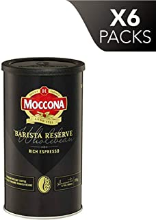 Moccona Coffee Wholebean Barista Reserve Rich Espresso (175g x 6 Packs)