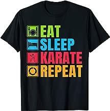 Funny Karate Gift Eat Sleep Karate Repeat T-Shirt