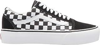 Vans 范斯 Old Skool Pla 女式帆布运动鞋(5.5 US,黑白色)