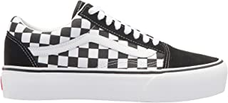 Vans Old Skool Pla Womens Canvas Trainer (5.5 US, Black White)