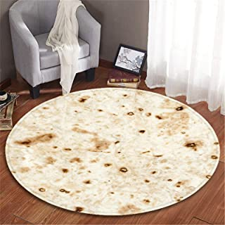 Soft Tortilla Blanket 2019 New Novelty Round Carpet Food Creations Burrito Wrap Comfortable Soft Throw Personalised Blankets Danmily