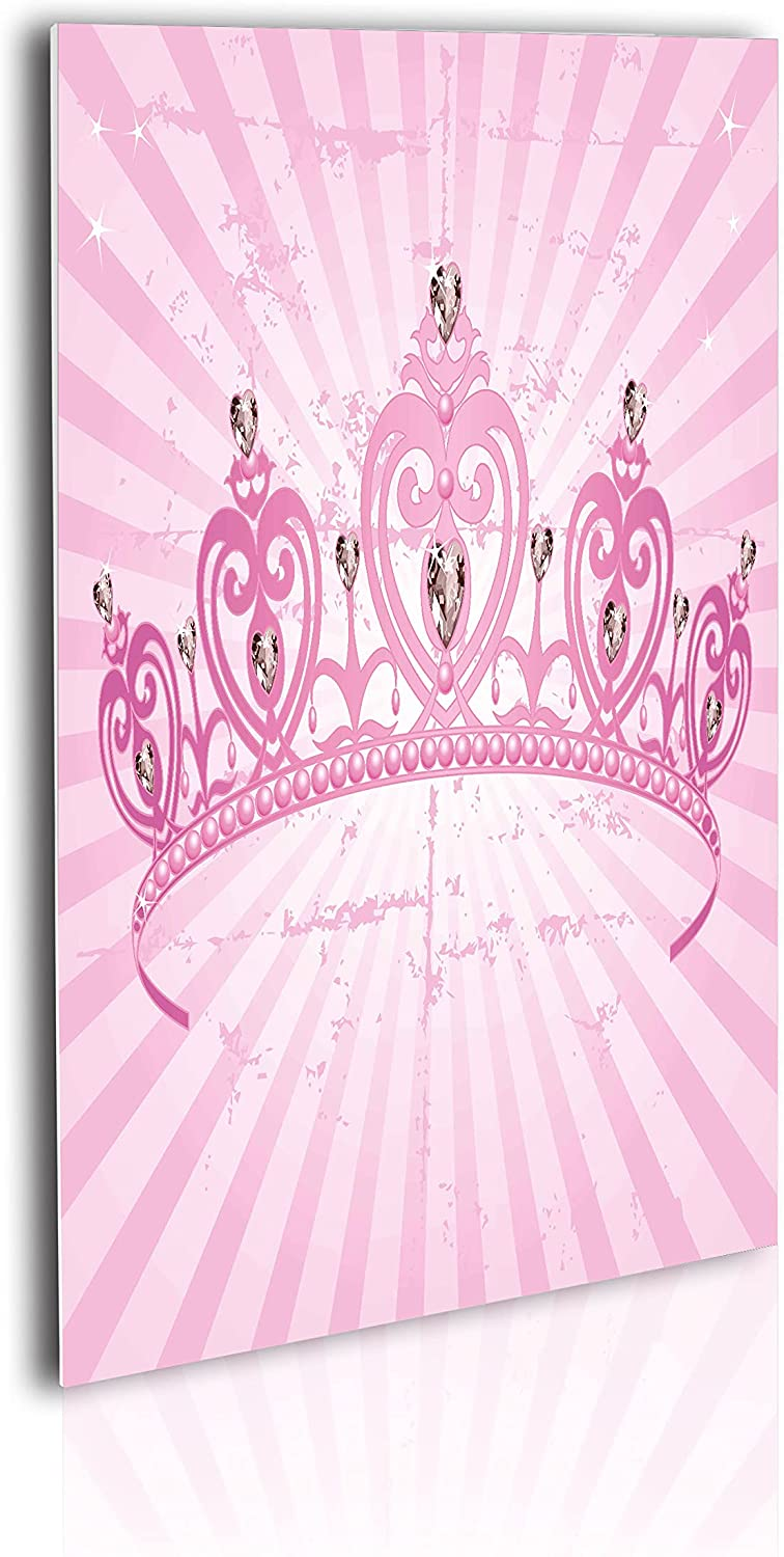 Max 83% OFF Ambesonne Queen Acrylic Glass Wall Art Pink lowest price Heart Shaped Theme
