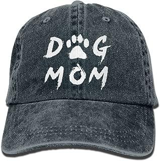 Unisex Adult Dog Mom Vintage Adjustable Baseball Cap Cotton Denim Cowboy Dad Hat
