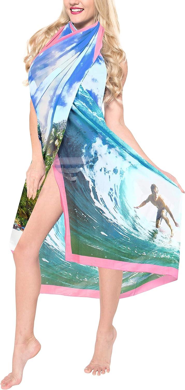 LA LEELA Women's Hawaii Sarongs for Women Plus Size Beach Wrap Skirt Full Long E