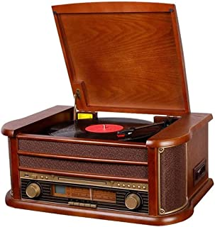 $1366 » DSWHM Exquisite and Elegant Gramophone Retro Bluetooth Lp Record Player European-Style Tape Record Player Entry Vintage Vi...