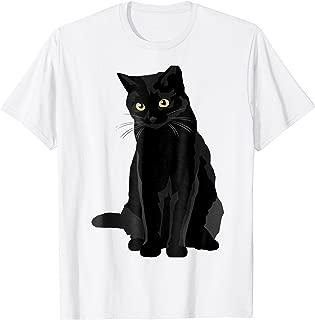 Cat Tshirt Black Cat Cool For Man Woman Birthday Christmas