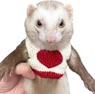 Alfie Pet - Sabrina Sweater for Mouse, Chinchilla, Rat, Gerbil and Dwarf Hamster - Color: Red