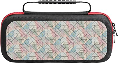 $26 » Geometric Outline Brush Pattern Case Compatible with Switch Case Protective Carry Bag Hard Shell Storage Bag Portable Trav...