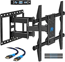 """$51 Get Mounting Dream TV Mount for Most 42-70 inch Flat Screen TVs Up to 100 lbs, Full Motion TV Wall Mount with Swivel Articulating 6 Arms, TV Wall Mounts Fit 12-16"""" Wood Studs, Max VESA 600x400mm"""