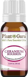 Geranium Bourbon Essential Oil 10 ml 100% Pure Undiluted Therapeutic Grade.