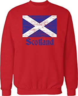 NOFO Clothing Co Flag of Scotland, Scottish Flag, Saltire Crew Neck Sweatshirt