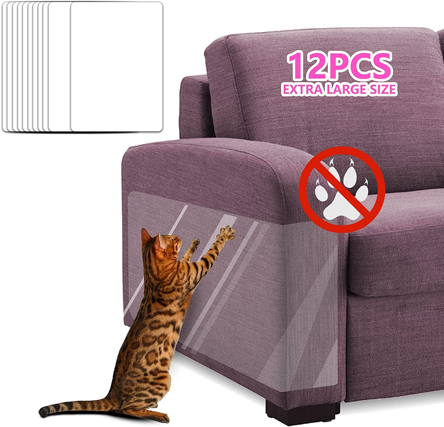 ECOCONUT Pet Couch service Latest item Protector 12PCS XL Dog Claw Guards Clear Cat