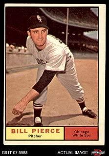 1961 Topps # 205 Bill Pierce Chicago White Sox (Baseball Card) Dean's Cards 4 - VG/EX White Sox