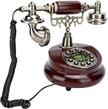 $90 » Retro Telephone, Rotating Dial Handset Landline Telephone Resin Vintage Desktop Telephone for Home Office Hotel Decoration...