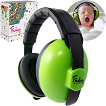 Fridaybaby Baby Ear Protection (0-2+ Years) - Comfortable and Adjustable Baby Ear Muffs Noise Protection for Infants & Newborns | Baby Headphones Noise Reduction for Concerts Fireworks Travels (Green)