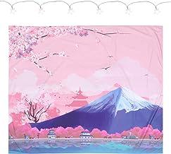 KESYOO Japanese Tapestry Cherry Blossoms Sakura Flower Tapestry Wall Hanging for Living Room Bedroom Dorm Decor Dorm Outdoor