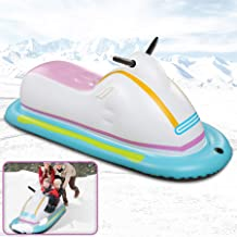 ROYI Inflatable Snowmobile Snow Sled, Kids and Adults Heavy-Duty Giant Snow Tube for Sledding with Reinforced Handles Snow...