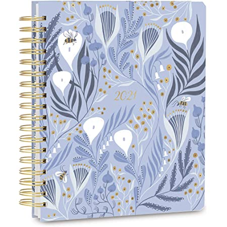"""High Note 2021 Planner by Rae Ritchie, Garden Bee Wildflowers 17-Month Deluxe Hardcover Planner, August 2020 - December 2021, 9"""" x 10"""""""