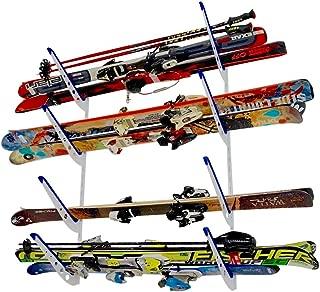 StoreYourBoard Horizontal Multi Ski Wall Rack, Home and Garage Skiing Storage Mount