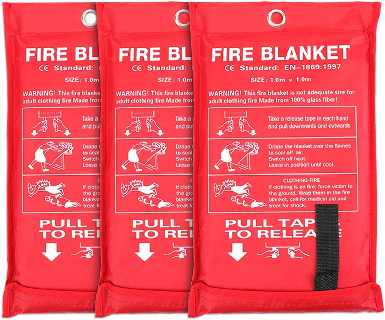 Jucoan 3 Pack Fire NEW before selling Free shipping / New Fiberglass 39 Blanket Emergency