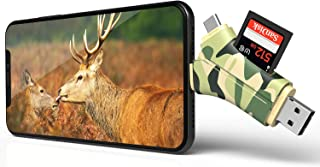 E-thinker Trail Camera Viewer 4 in 1 Game Camera Memory Card Reader-Trail Hunter View Hunting Photos and Videos or Any Wildlife Game Camera on Smartphone for iPad Mac & Android,SD & Micro SD