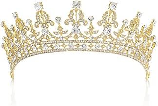 zrshygs Corona Nupcial Boda Nupcial Princesa Rhinestone Perla cristalina del Pelo Tiara Velo de Novia Corona de la Venda