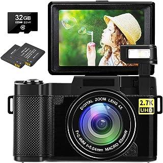 Digital Camera Vlogging Camera 30MP Full HD 2.7K Vlog...