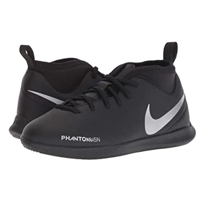 Nike Kids Jr. Phantom Vision Club DF IC Soccer (Toddler/Little Kid/Big Kid) (Black/Metallic Silver/Racer Blue) Kids Shoes